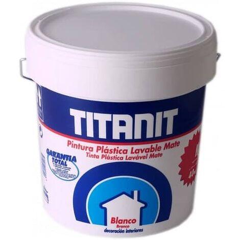 Pintura plastica lavable mate 4 Litros Blanco