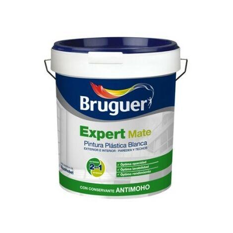 Pintura Plastica Mate 4 Lt Blanco Exterior Expert Bruguer