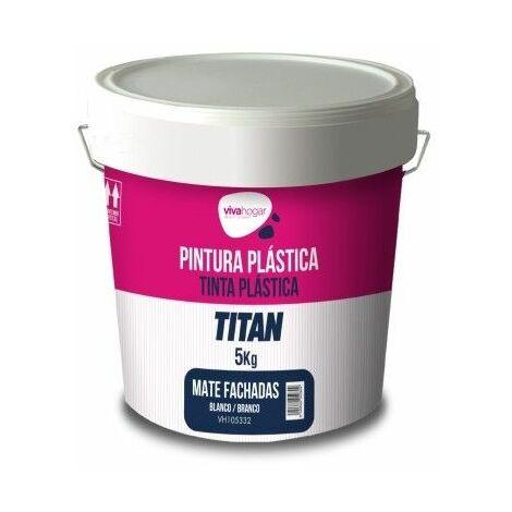 Pintura Plastica Mate 5 Kg Blanco Exterior Fachada Vivahogar