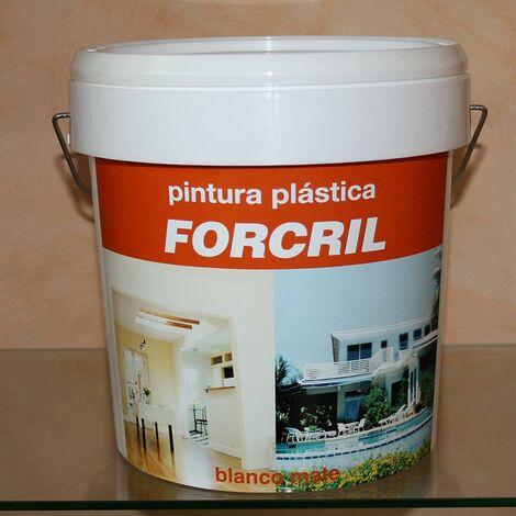 Pintura Plastica Mate Exterior 10 Lt 10 Lt Blanco Forcril Bupisa Xxx34145