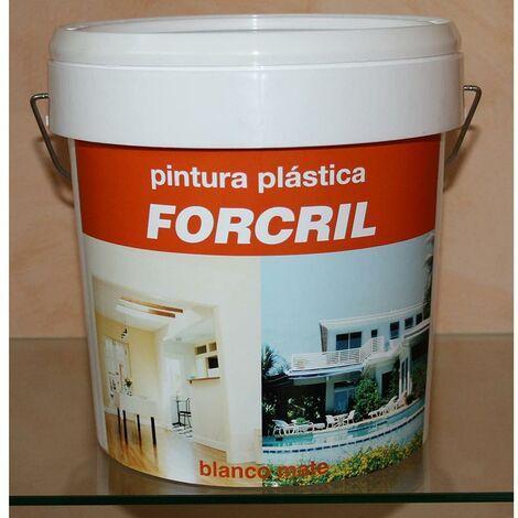 Pintura Plastica Mate Exterior 15 Lt 15 Lt Blanco Forcril Bupisa Xxx34146