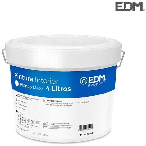 Pintura plástica mate interior blanca 4 Lt EDM