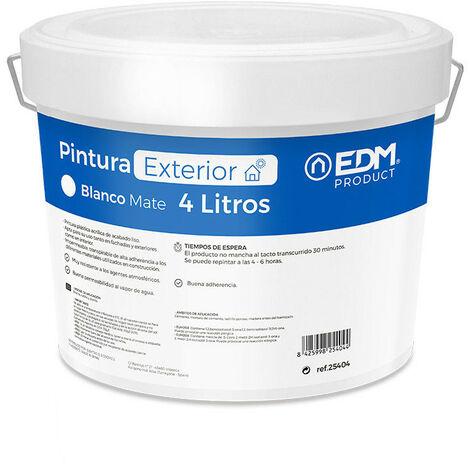 PINTURA PLASTICA MATE INTERIOR / EXTERIOR BLANCA 4L EDM - NEOFERR
