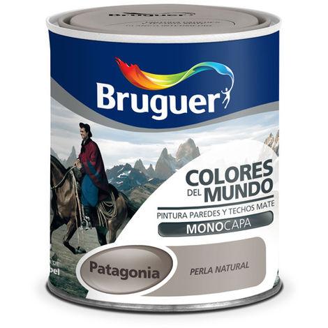 Pintura Plástica Patagonia gris perla Suave - COLORES DEL MUNDO - 5160741 - 750 ML