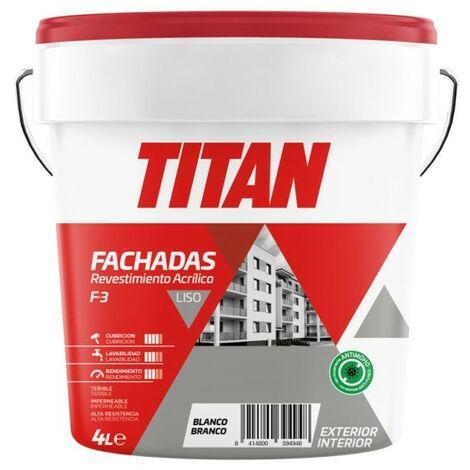 Pintura revestimiento mate fachadas acril liso bl f3 titan 4