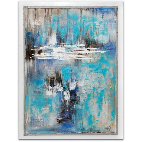 Pintura sobre lienzo Extracciones en Azu cm 120x90x3,5 Artedalmondo AS480X1