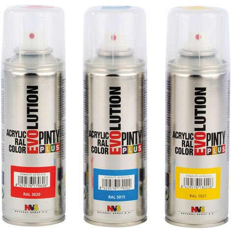 PINTURA SPRAY ACRILICA NEGRO MATE 200ML