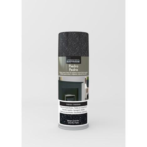 Pintura Spray Efecto Piedra Negro 400 Ml - XYLAZEL - 4011733