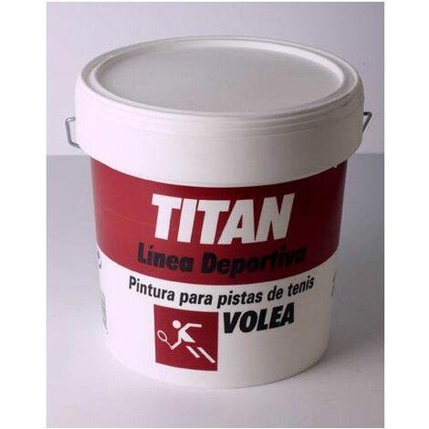 Pintura Suelo Pista Deportiva 4 Lt Verde Titan Volea