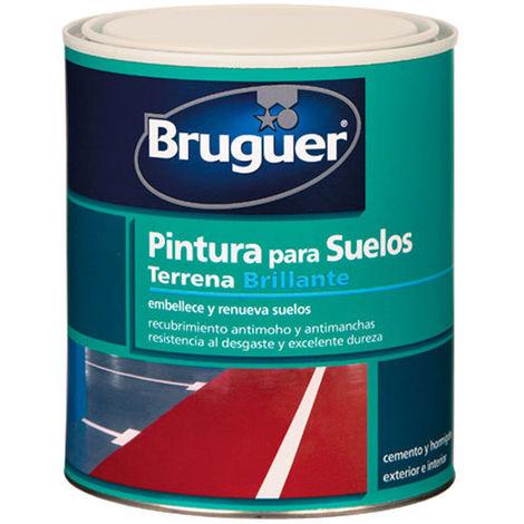 Pintura Suelos Terrena Rojo - Bruguer 750 Ml 024003033