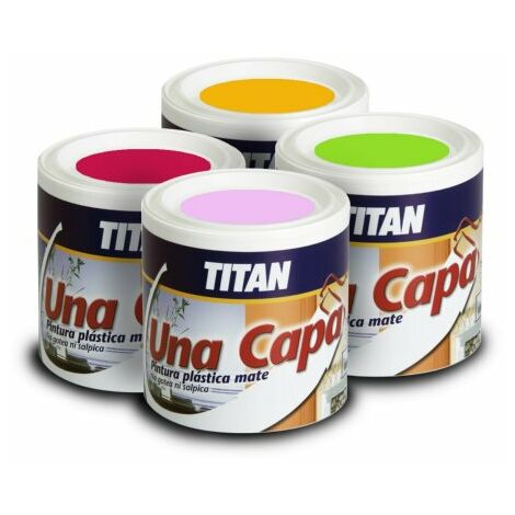 PINTURA UNA CAPA MATE AMARILLO 750 ML