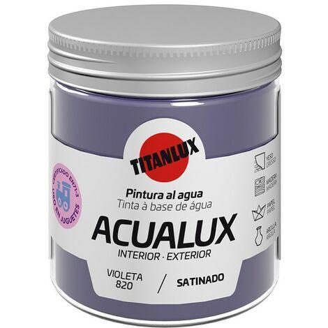Pinturas al agua Acualux Colores Azules Titanlux   820-Violeta - 75 mL