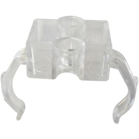 Pinza plástica a presión para sujeción lateral para lámparas 2G11