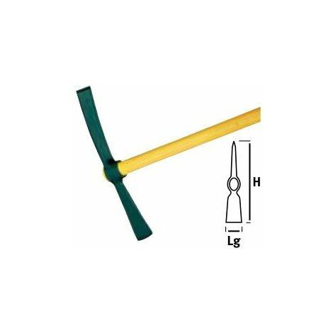 Pioche hache à douille ovale- avec OU sans manche bois