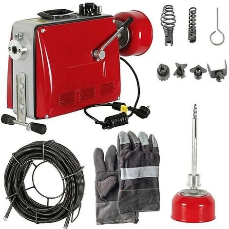 Pipe cleaning machine 500W 16mm Pipe cleaning device Pipe cleaner Drainage cleaner