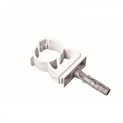 Pipe clip closed 10-12 mm 10 pcs fix u