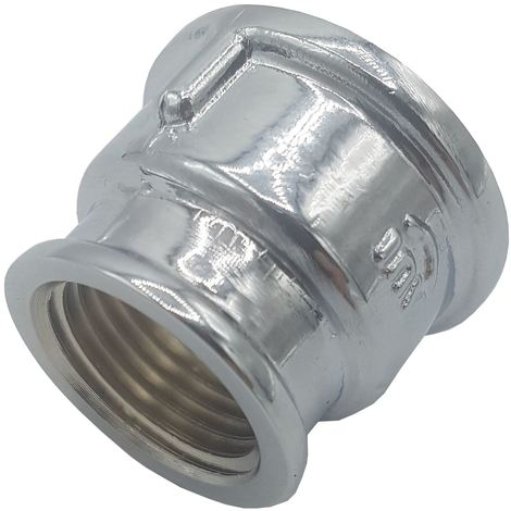 "Pipe Connection Reduction Female Fittings Muff Chrome 3/4"" x 1/2"""