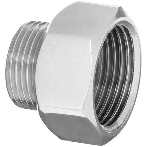 "Pipe connection reduction fittings chrome female x male 3/4"" x 1/2"""