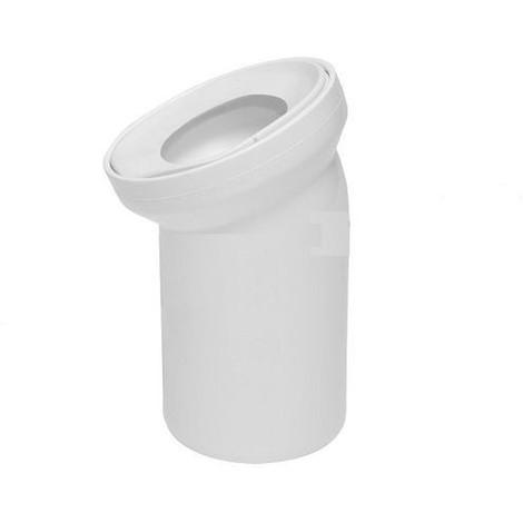 Pipe coudée de WC diamètre 110mm / 22°