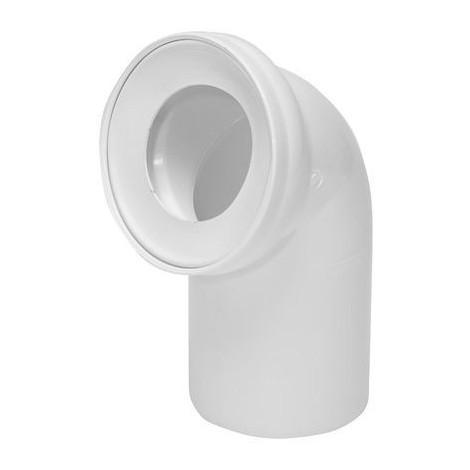 Pipe coudée de WC diamètre 110mm / 75°