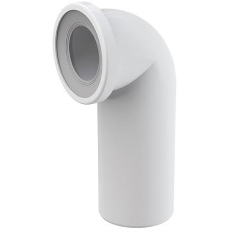 Pipe coudée de WC diamètre 110mm / 90° avec raccordement Ø40