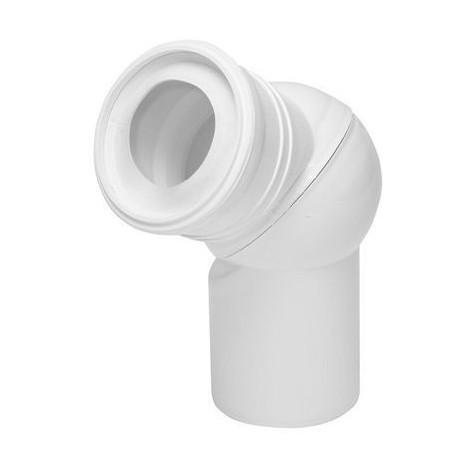 Pipe coudée de WC orientable, diamètre 110mm, boule