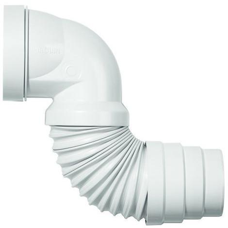 Pipe coudée multiforme de WC extensible