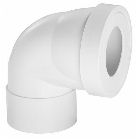 Pipe de WC courte en angle de 90 °C Diam.10 cm WIRQUIN