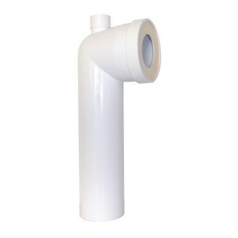 Pipe longue coudée à prise d'air Ø 93 x L330mm en PVC