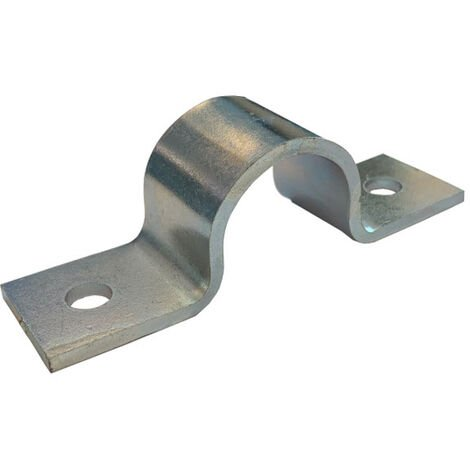 Pipe Saddle Clamp - Guide - 38 mm ID, 35 mm IH, 25 x 3 mm Steel (ZP) Zinc Plated