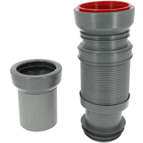 Pipe souple extensible 320 à 670mm spécial bâti-support MULTIBATI Ø100/110mm