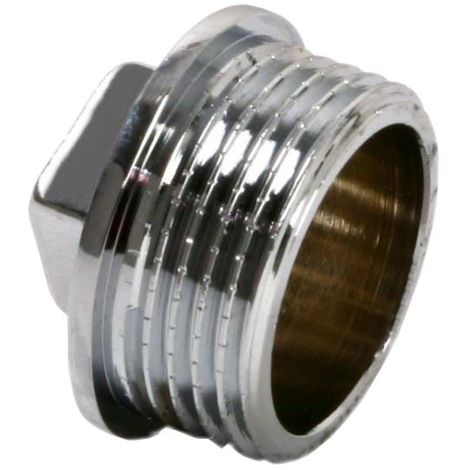 Pipe Tube Fittings Chrome Plug Stop End Cap Cover Ending Male 3/8""