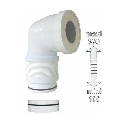 Pipe WC coudée extensible Ø 93 et Ø 100mm