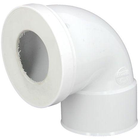 Pipe WC courte coudée 90° - Ø85 à 107