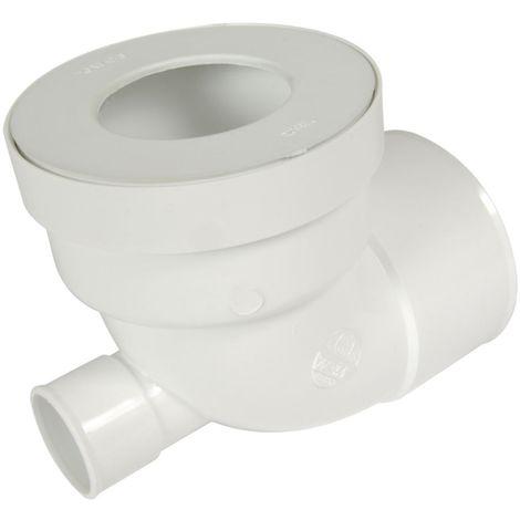 Pipe WC courte femelle avec piquage femelle diamètre 100 mm PVC blanc