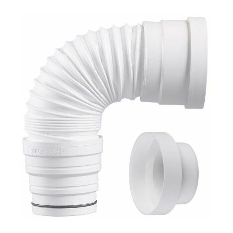 Pipe WC extensible Ø 80-93-100-110mm avec réduction 100 - 800mm