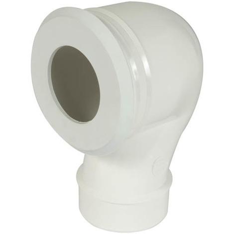 Pipe wc réglable sortie verticale