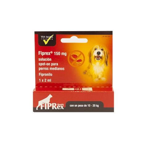 Pipeta Fipronilo FIPREX M Spot-On Perros Medianos (10-20kg) Pulgas y Garrapatas - 1 pipeta