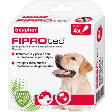 Pipetas antiparasitarias Beaphar Fiprotec Spot On Perros Grandes (20-40 kg) - 4 pipetas