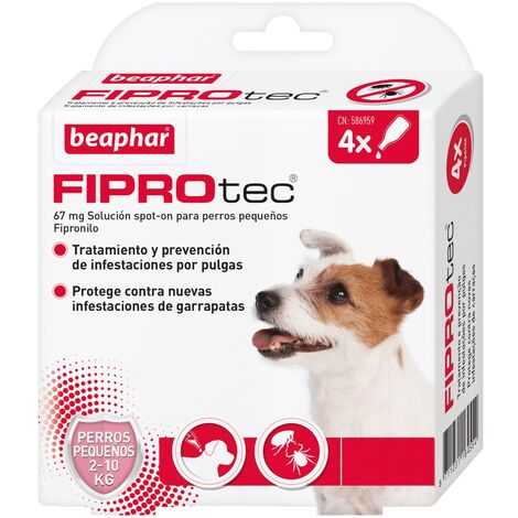 Pipetas antiparasitarias Beaphar Fiprotec Spot On Perros Pequeños (2-10 kg) - 4 pipetas