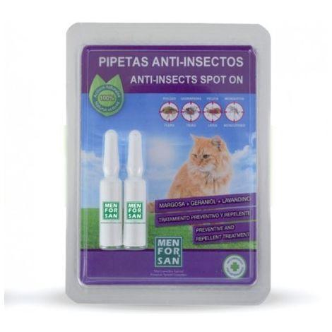 Pipetas antiparasitarias natural MENFORSAN para gatos (2 unidades)