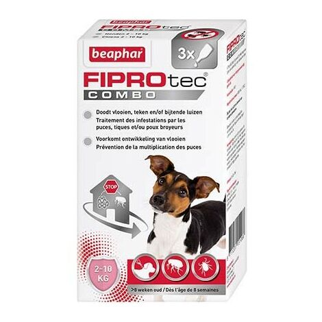 Pipetas antiparasitarias para perros pequeños FIPROtec Combo 2-10 kg
