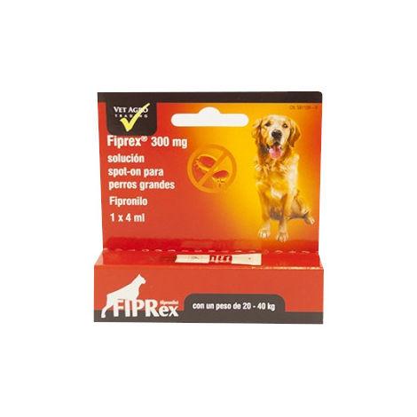 Pipetas Fipronilo FIPREX L Spot-On Perros Grandes (20-40kg) Pulgas y Garrapatas - 3 pipetas