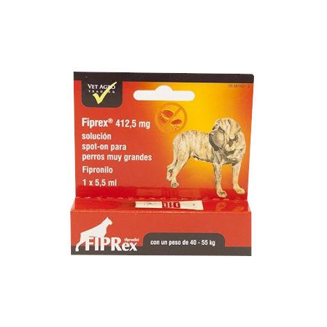 Pipetas Fipronilo FIPREX XL Spot-On Perros Gigantes (40-55kg) Pulgas y Garrapatas - 3 pipetas