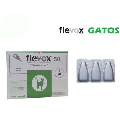 Pipetas FLEVOX para gatos anti pulgas y garrapatas - 3 Pipetas