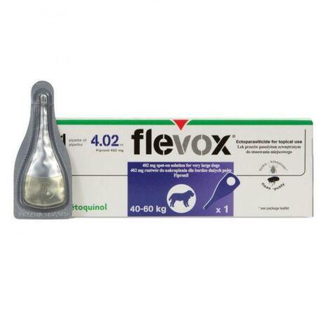 Pipetas FLEVOX para perros 40-60 Kg anti pulgas y garrapatas - 3 Pipetas