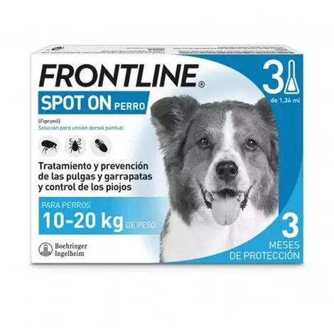 Pipetas Frontline Spot On 3 uds. X 1,34 ml. | Pipetas anti-pulgas | Repelente de párasitos | Pipetas para perros de 10-20 kgs.