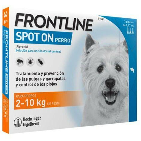 Pipetas Frontline Spot On 6 uds. X 0,67 ml. | Pipetas anti-pulgas | Repelente de párasitos | Pipetas para perros de 2-10 kgs.