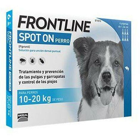 Pipetas Frontline Spot On 6 uds. X 1,34 ml. | Pipetas anti-pulgas | Repelente de párasitos | Pipetas para perros de 10-20 kgs.