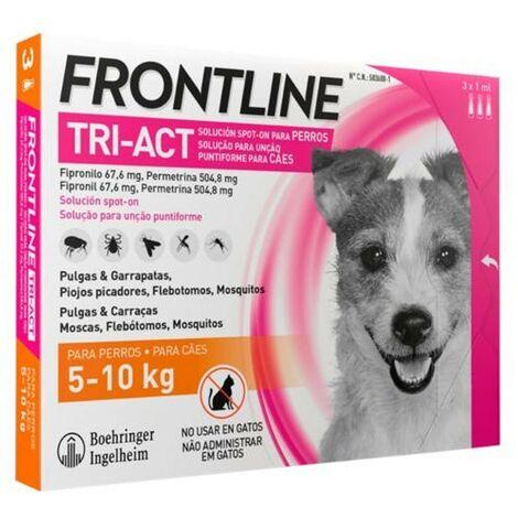 Pipetas Frontline Tri-Act 3 uds. X 1 ml.   Pipetas anti-pulgas   Repelente de párasitos   Pipetas para perros de 5-10 kgs.